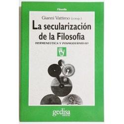 LA SECULARIZACIÓN DE LA FILOSOFÍA