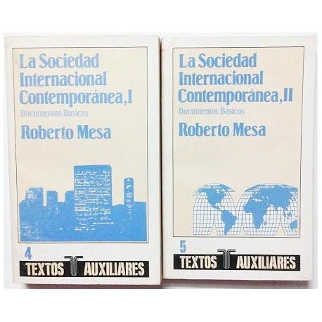 LA SOCIEDAD INTERNACIONAL CONTEMPORANEA. 2 TOMOS