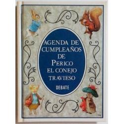 AGENDA DE CUMPLEAÑOS DE PERICO EL CONEJO TRAVIESO