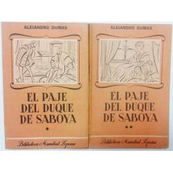 EL PAJE DEL DUQUE DE SABOYA. 2 TOMOS