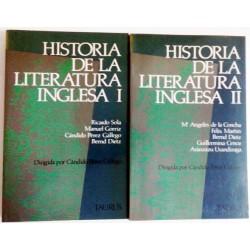 HISTORIA DE LA LITERATURA INGLESA 2 TOMOS