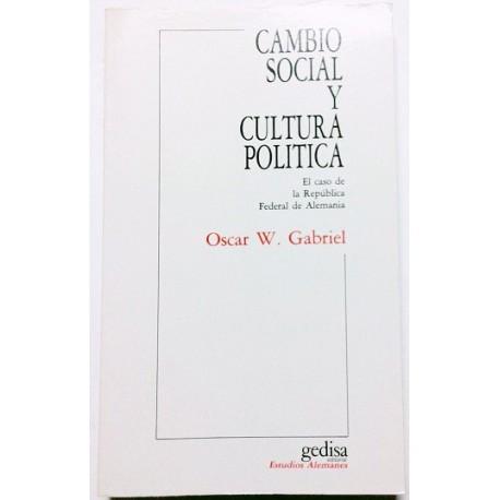 CAMBIO SOCIAL Y CULTURA POLÍTICA