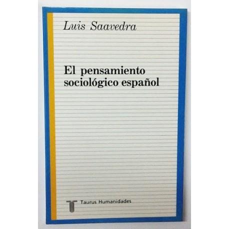 EL PENSAMIENTO SOCIOLOGICO ESPAÑOL