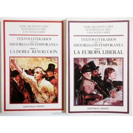 TEXTOS LITERARIOS PARA LA HISTORIA CONTEMPORANEA 2 TOMOS