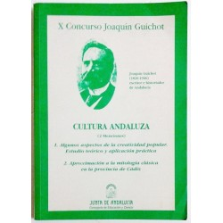 CULTURA ANDALUZA (2 MENCIONES). X CONCURSO JOAQUÍN GUICHOT