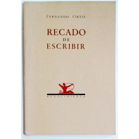 RECADO DE ESCRIBIR