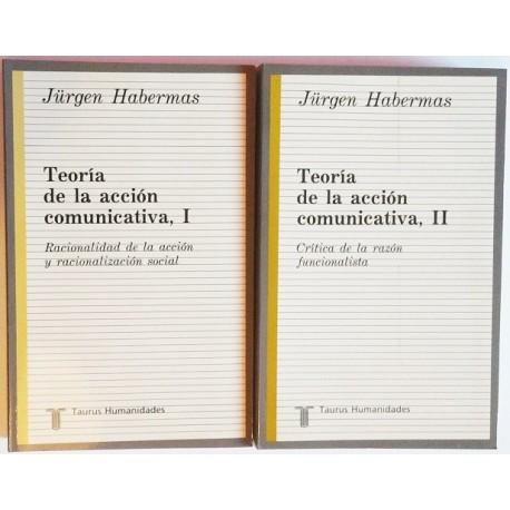 TEORÍA DE LA ACCION COMUNICATIVA. 2 TOMOS