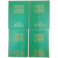 CORPVS DE INSCRIPCIONES LATINAS DE ANDALVCIA VOL. II 4 TOMOS