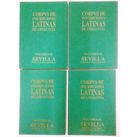 CORPVS DE INSCRIPCIONES LATINAS DE ANDALUCIA VOL. II 4 TOMOS