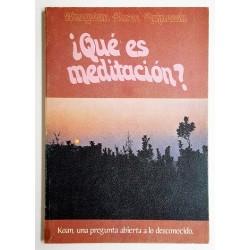 QUÉ ES MEDITACIÓN