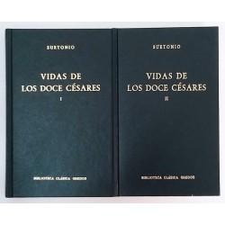 VIDAS DE LOS DOCE CÉSARES 2 TOMOS