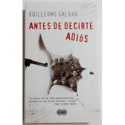 ANTES DE DECIRTE ADIÓS